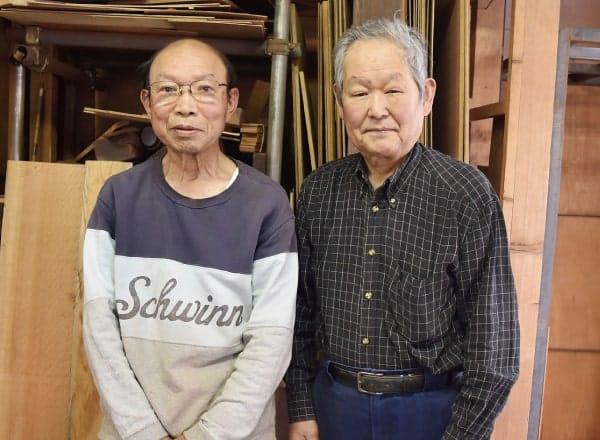 唐木木工師の織田さんと福田さん